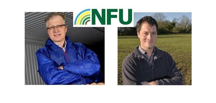 NFU poultry board Chair  Duncan Priestner (l) + vc Tom Wornham (r)