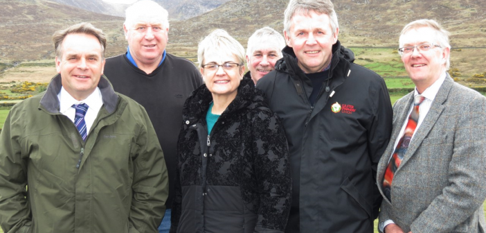 Pictured left to right: EFRA committee chairman Neil Parish MP, UFU member Dessie Patterson. Margaret Ritchie MP, UFU deputy President Victor Chestnut, UFU president Barclay Bell, and UFU deputy president Ivor Ferguson.