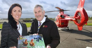 Mon 2 October 2017 - Launch of the UFU charity calendar, at the Air Ambulance station, Lisburn.