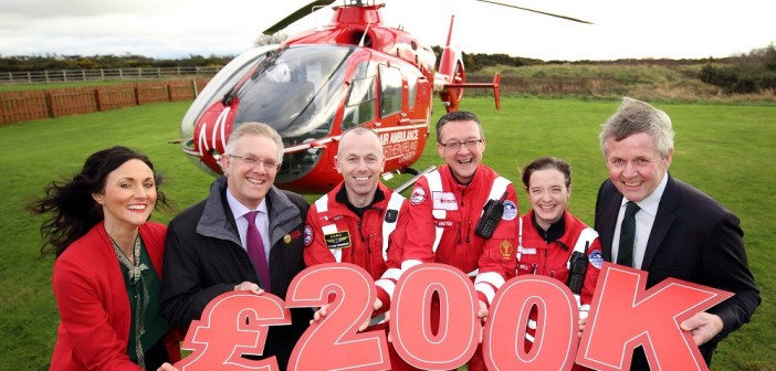 Fri 25 Jan 2019 - Ulster Farmers' Union have raised £200,000 for the Air Ambulance, at Newtownards Flying Club.