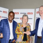 L-R: Michael Maguire, East African director, Devenish; Anthony Wainaina, managing director, Sidai; Christie Peacock, founder and director of Sidai; and Owen Brennan, chairman, Devenish