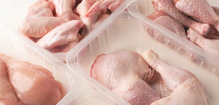 poultry cuts in trays