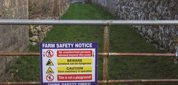 farm safety sign