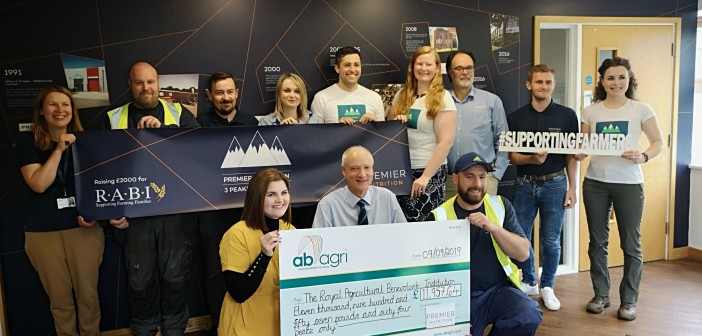 Premier Nutrition Three Peaks cheque presentation to RABI