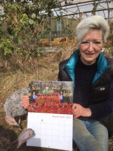 susan with her calendar