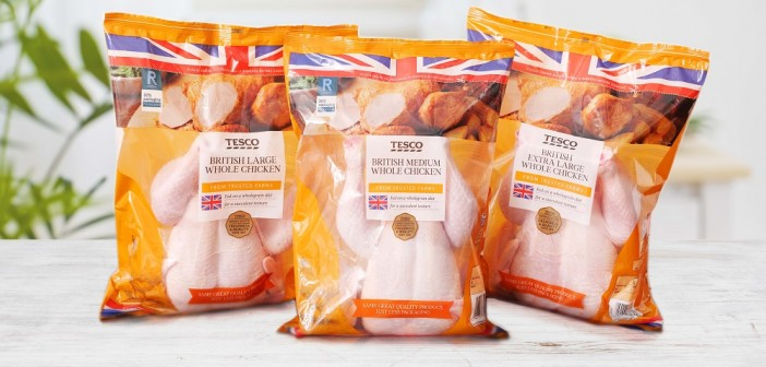 Tesco to remove plastic trays from fresh whole chickens