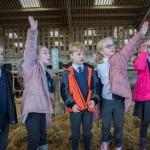 children on farm