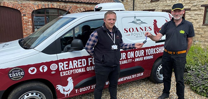 Soanes Poultry's Simon Dodd (left) and Don French from Don French Signs