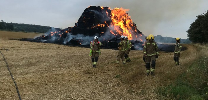 Sundown straw stack - remains after fire