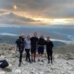 Fairburns three peaks - Tabby Ward, Egle Samulione, Peter Price, Dan Fairburn, Aiste Baltrukaite